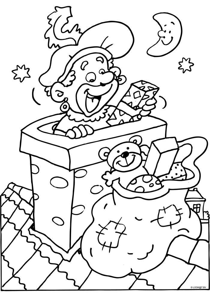 Kleurplaten Van Sinterklaas En Zwarte Piet.Kleurplaten Sint Berchem