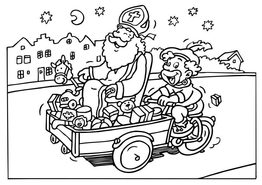 Kleurplaten Sinterklaas.Kleurplaten Sint Berchem