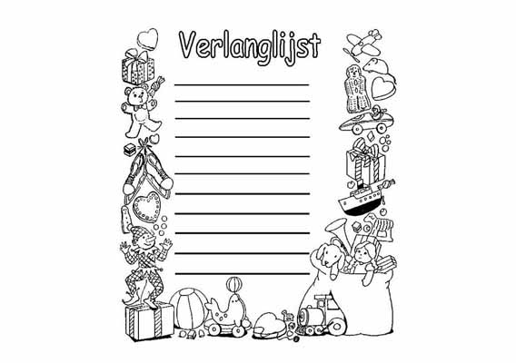 Kleurplaten Sinterklaas Lijstje.Kleurplaten Sint Berchem